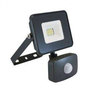 PROJECT LED VISION-EL 230 V 10 WATT 4000°K PLAT GRIS + DETECT IP65