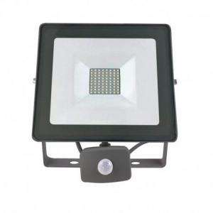 PROJECTEUR LED VISION-EL 230 V  50 WATT 4000°K PLAT GRIS + DETECT IP65