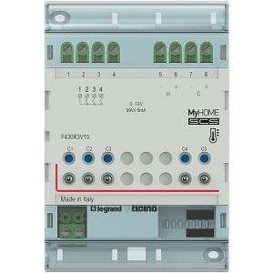 Actionneur 3 relais indépendants + 2 sorties 0 10 V MyHOME BUS 4 modules BTICINO F430R3V10