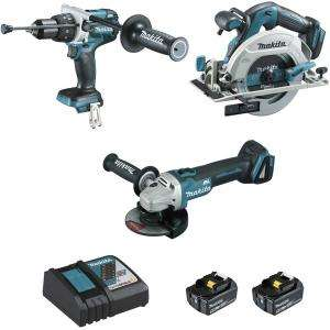 Ensemble de 3 machines (DHP481+DGA506+DHS680) MAKITA DLX3095PTJ