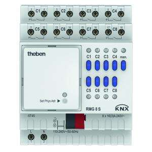 Actionneur 8 contacts tout ou rien serie mix RMG 8 S KNX THEBEN 4930220