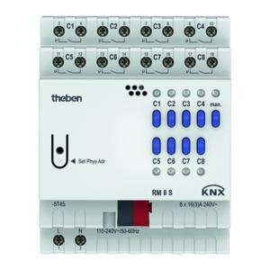 Actionneur 8 contacts tout ou rien RM 8 S KNX serie fix THEBEN 4940220