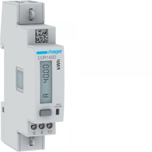 1 Phase kWhmeter direct 40A 1M MODBUS MID HAGER ECR140D