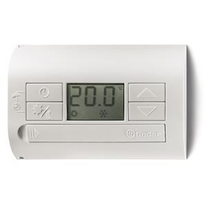 THERMOSTAT D'AMBIANCE BLANC MONTAGE PAROI 1 INVERSEUR 5A ALIM PILES 2 X 1,5V AAA - ANTIGEL-OFF-ETE-HI FINDER 336862