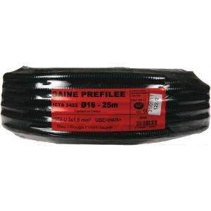 GAINE PREFILEE NOIR 16G 3X1,5 25M B-R-VJ JANOPLAST JAN004348