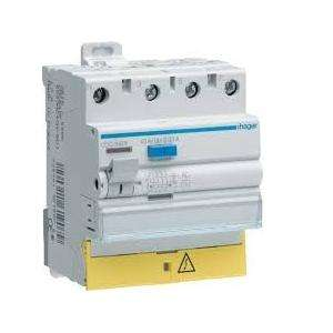 INTER DIFFERENTIEL 4P63A. 30MA. TYPE AC BORNES DECALEES -HAGER CDC863F
