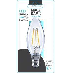 AMPOULE LED FLAMME 3,6W E14 360 LM BC MACADAM LIGHTING 9765
